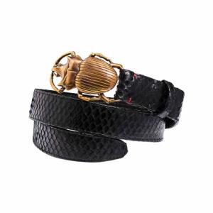 trinity-claris-virot-ceinture-python-beatle-noire-boucle-or