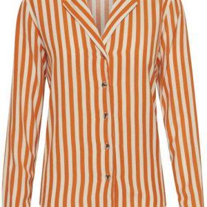 trinity-ichi-chemise-rayures-orange-face