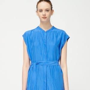 trinity-pomndere-robe-chemise-ceinture-bleu