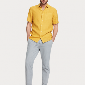 trinity-scotch-and-soda-chemise-manches-courtes-jaune-silhouette
