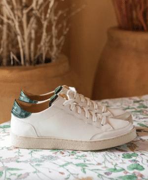 trinity-rivecour-baskets-n14-blanc-vert-croco